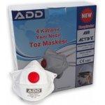 ADD Air Active 5510 FFP3 NR D respirátor s výdechovým ventilem návod a manuál