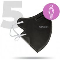 Nanolab bezpečný nano respirátor FFP2 dámský černý 5 ks návod a manuál